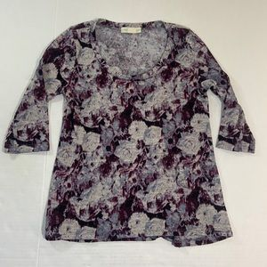 Anthropologie Staring at Stars Floral Blouse Top M